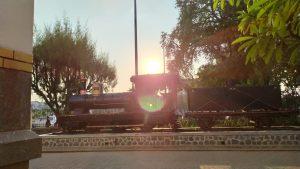 Kereta Api Tempo Lalu di Lawang Sewu Semarang