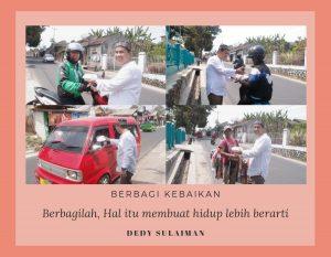 Orang Tua Siswa Sekolah Alam Indonesia Sukabumi Turut Membagikan Nasi Jumat