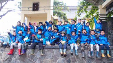 Siswa yang dididik di Sekolah Alam Indonesia Sebelum Berangkat OTFA di Pondok Halimun Sukbuami