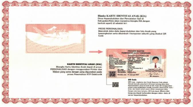 Persyaratan kartu identitas anak