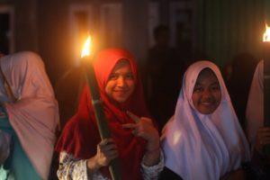 Dari Anak-anak, Remaja, hingga orang dewasa turut serta dalam Pawai Di Pabuaran Sukabumi