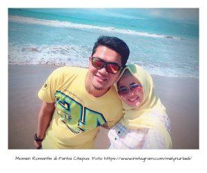 Foto Bersama dengan si dia di Pantai Citepus