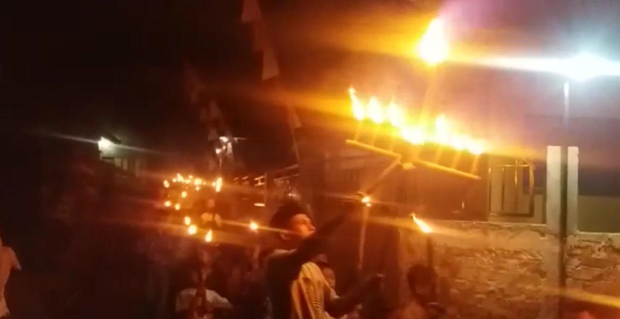 Pawai Obor 1 Muharram 1441 di Kampung Cijati Cicantayan Sukabumi
