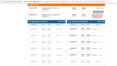 Pesan Tiket kereta secara online