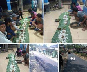 Syukuran warga Terhadap Pembangunan Jalan Cijati Sukabumi