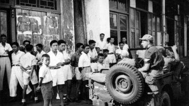 Jip militer Belanda melakukan patroli di jalan-jalan Sukabumi, 1947. Nationaal Militair Museum
