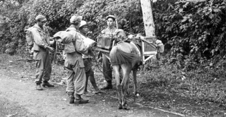 Patroli dan interogasi Tentara Belanda dengan warga Sukabumi, Juni 1947. Nationaal Militair Museum