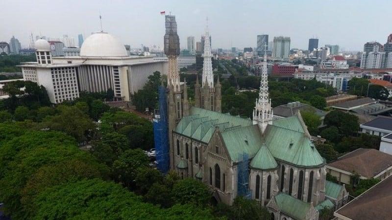 Tidak Salat Jumat di Istiqlal dan Kegiatan Misa di Katedral Serta Kegiatan Agama Lain
