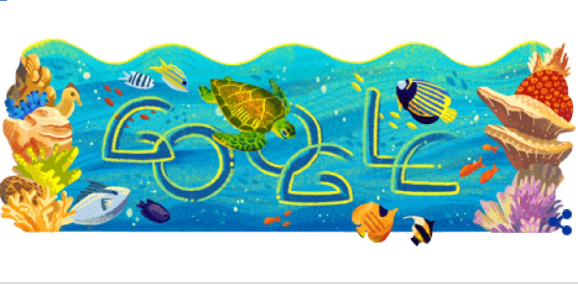 taman nasional bunaken google doodle