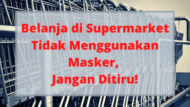 Belanja di Supermarket Tidak Menggunakan Masker, Jangan Ditiru!