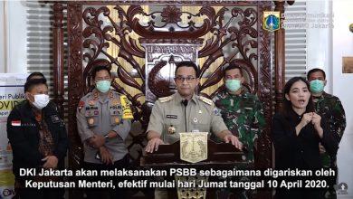 Pembatasan sosial berskala besar (PSBB) Jakarta