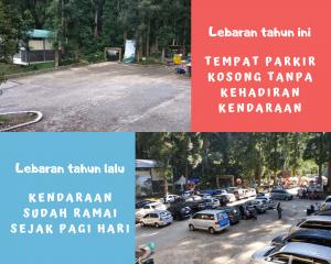 Tempat Parkir Situgunung Sukabumi Kosong Tanpa Kendaraan