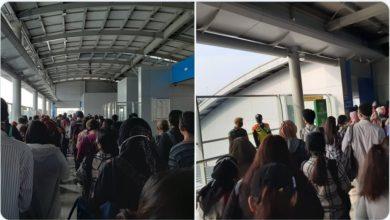 Pengguna Tetap Tertib di area Stasiun dan di dalam KRL. Foto @fanuelvanessa12