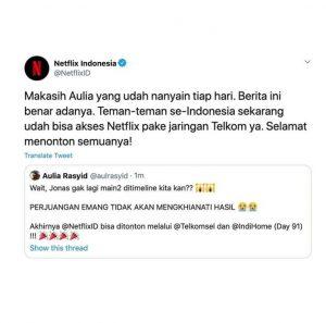 Kabar Netflix Indonesia bisa dibuka di Indihome dan Telkomsel