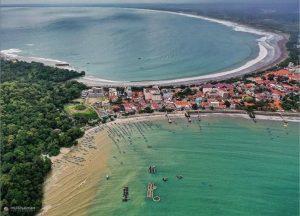 Keindahan Pantai Pangandaran. Foto @mulkisalman