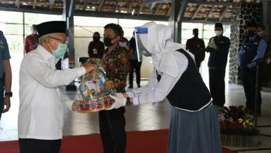 Kunjungan Wakil Presiden ke SMA Negeri 4 Sukabumi. Foto Humas Kota Sukabumi