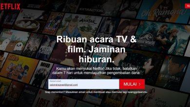 Netflix bisa ditonton melalui indihome, telkomsel dan wifi.id