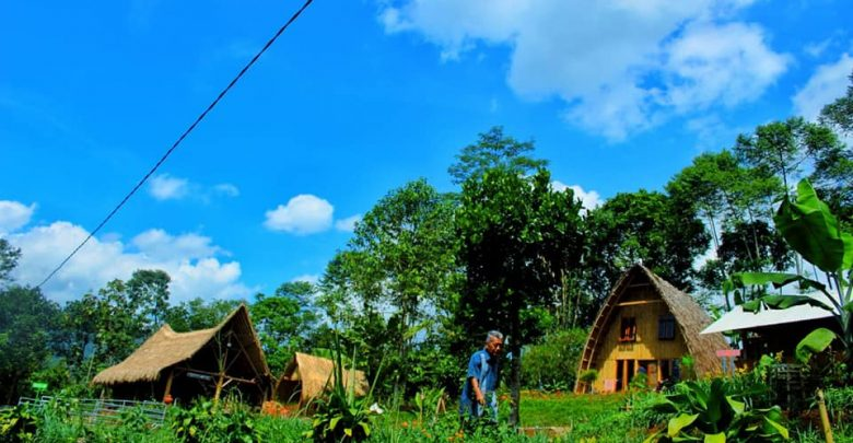 Pemandangan Alam di Kampung Lisung Uyut Sukabumi. Foto Nura