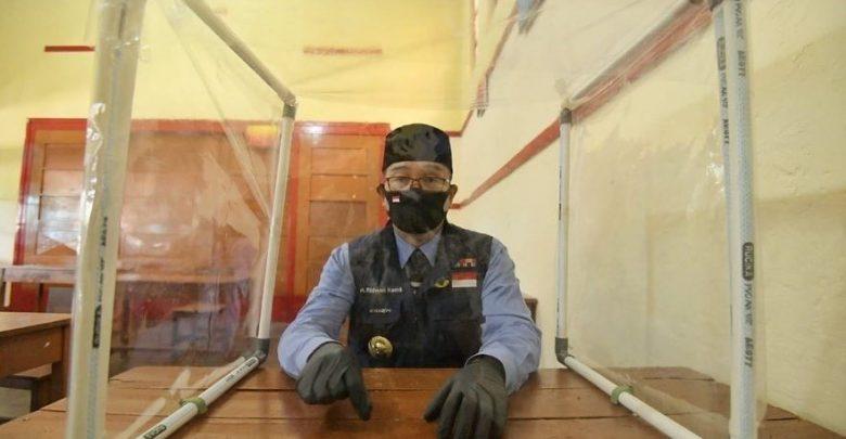 Ridwan Kamil Memberi Contoh Pembelajaran dengan Penghalang di SMA N 4 Sukabumi