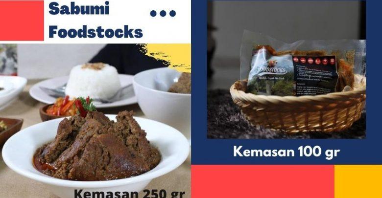 Rendang Daging Sapi Kemasan dari Sabumi Foodstocks