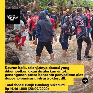 Total Donasi Banjir Bandang Sukabumi yang Dikumpulkan Sabumi Volunteer