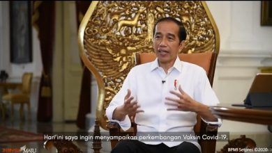 Presiden Jokowi Menyatakan Vaksin COVID-19 gratis dan Akan Disuntik Pertama Kali