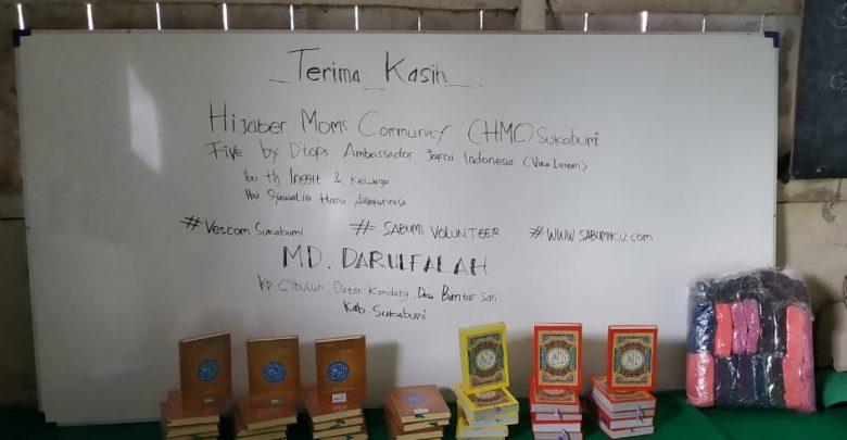 Sabumi Volunteer Mengirimkan Karpet, Papan Tulis, dan Al Quran Ke Pelosok Sukabumi